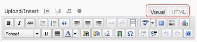 WordPress blog visual html tabs