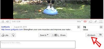 Embed a YouTube video in WordPress blog
