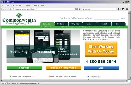 Commonwealth Consulting Group website