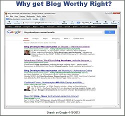 Why get blog worthy right