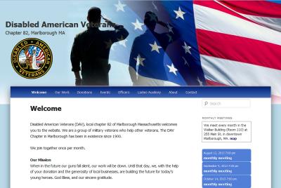 WordPress-Based Website for Local DAV Launches