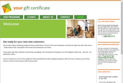 desktop view of redesigned website