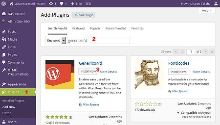 Install Genericond plugin