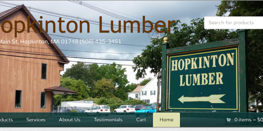 Hopkinton Lumber Launches a new Responsive WordPress Website