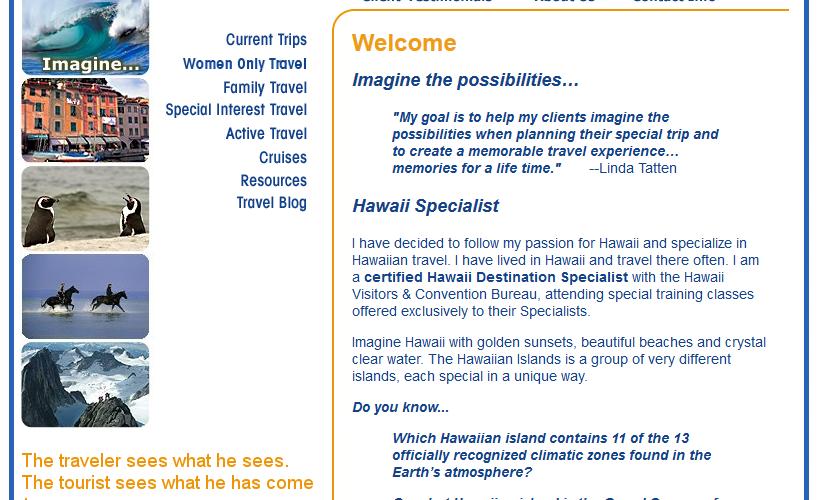 New responsive WordPress website for local travel agent