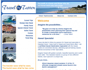 original travel by tatten HTML website