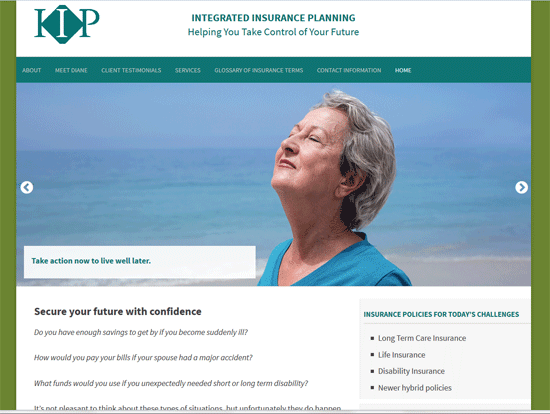 New WordPress Website for local Insurance Professional
