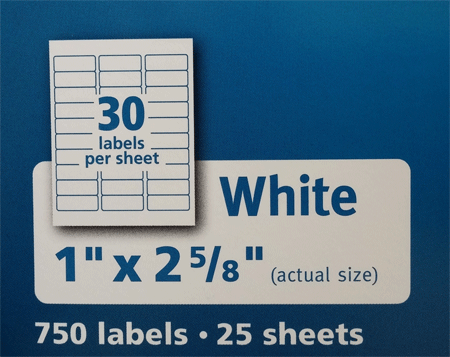avery 5160 labels diagram