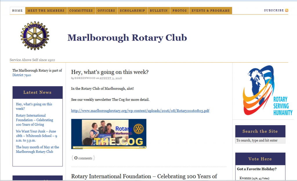 Marlborough Rotary website 2010