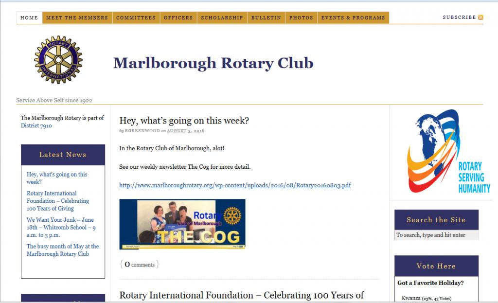 Marlborough Rotary website 2010