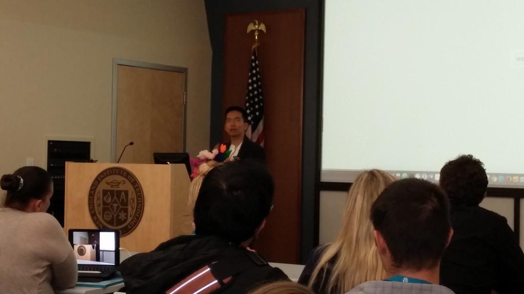 John Maeda delivering keynote at 2016 WordCamp Rhode Island