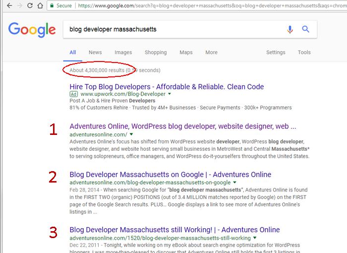 blog developer mass keyword phrase